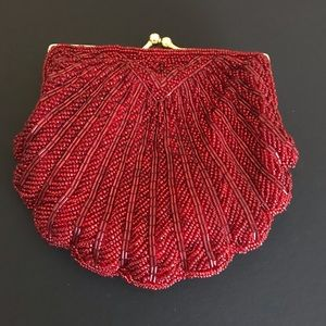 Red Sequined Evening Bag